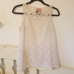 Lace/crochet cream top